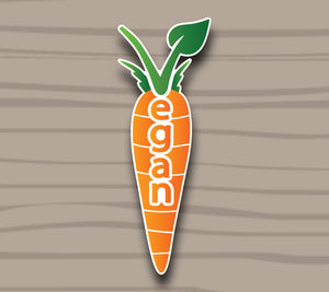 Carrot Sticker by Compassionate Closet - Compassionate Closet