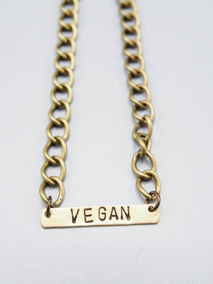 Vegan Bar Bracelet by Mishakaudi - Compassionate Closet
