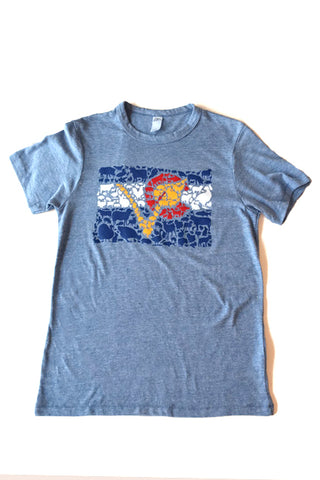 Colorado Vegan Animal Flag Unisex T-Shirt by Compassionate Closet - Compassionate Closet