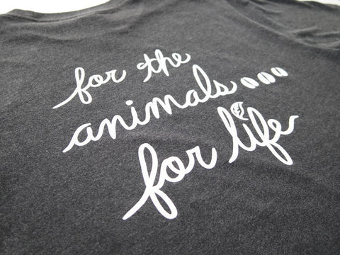 Vegan For Life-Animals Cow T-shirt Charcoal Unisex