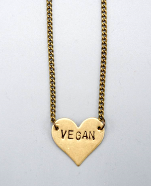 Vegan Heart Necklace by Mishakaudi - Compassionate Closet
