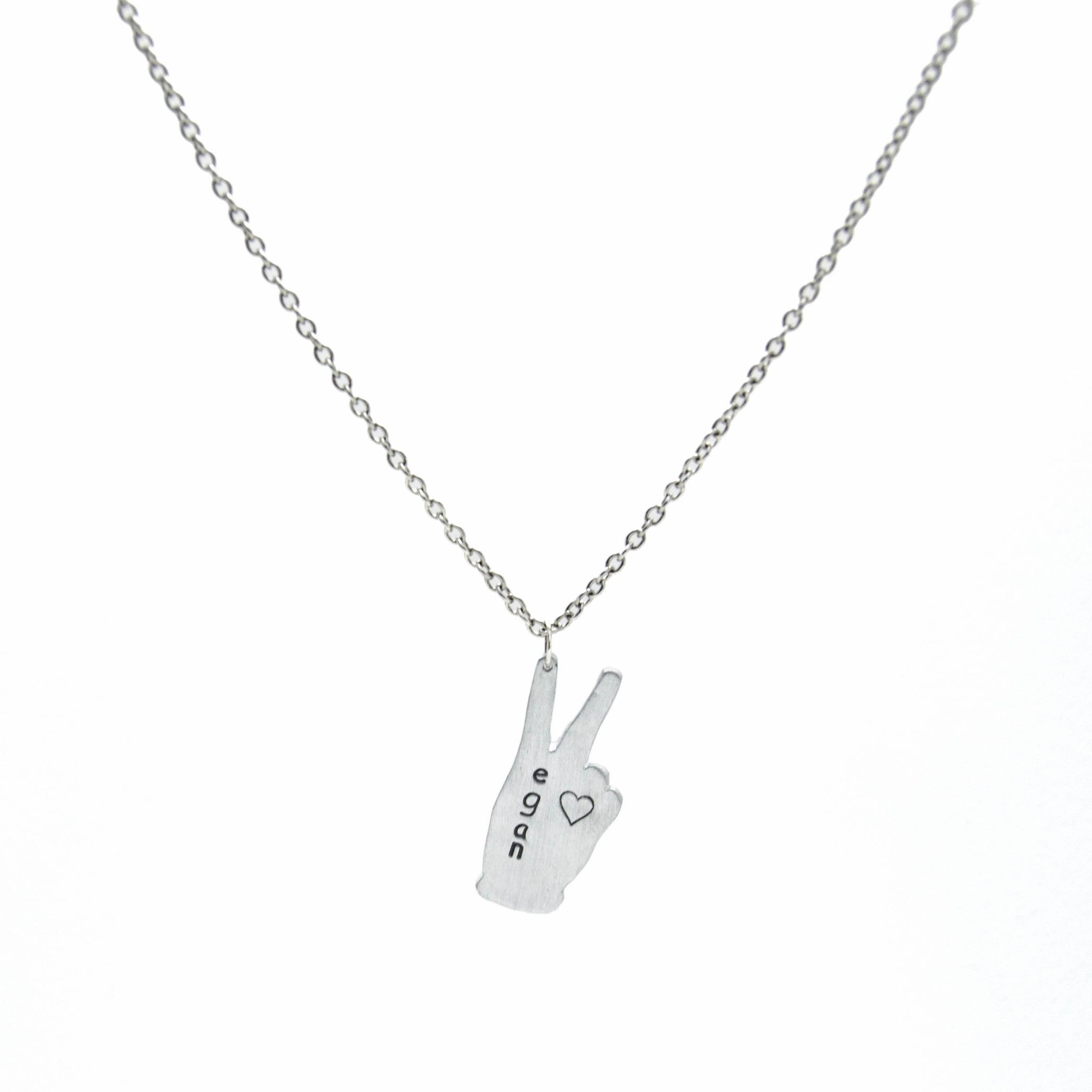 itm symbol charm engraved necklace silver word peace on sterling pendant with rhodium