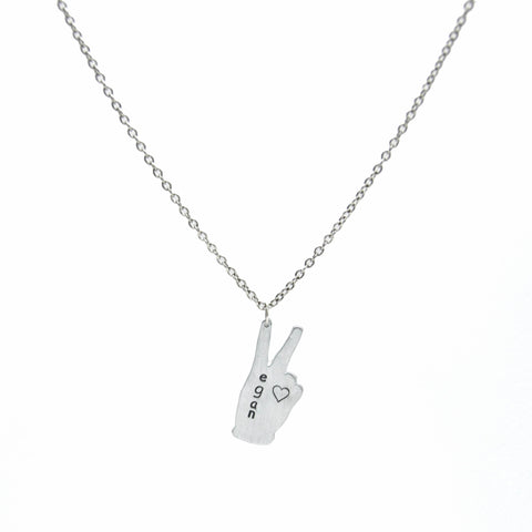 Vote Peace Recycled Aluminum Necklace