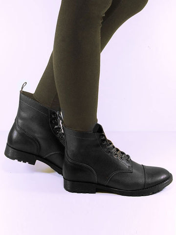Women's Vegan Workboot Black