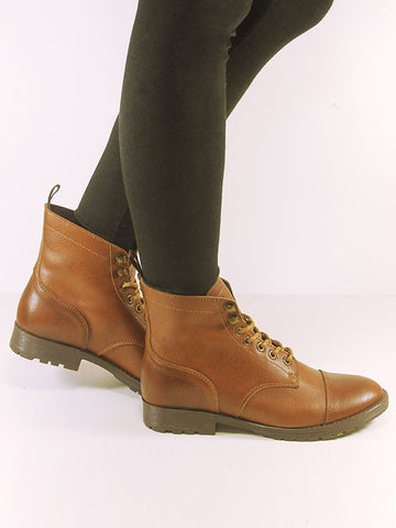 Women's Vegan Workboot Chestnut