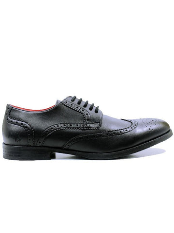 Will's London Men's City Brogues Black