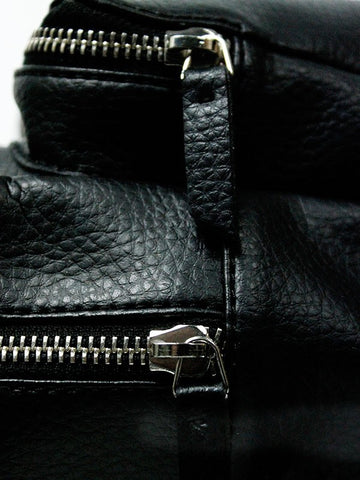 Wills London Backpack Black Zippers