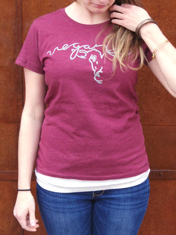 VEGAN FOR LIFE/ANIMALS COW Women's T-shirt by Compassionate Closet - Compassionate Closet