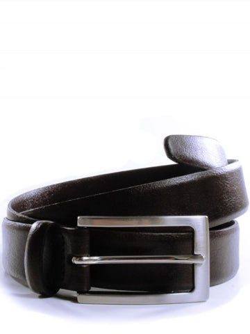 Will's 3CM Belt Dark Brown & Silver