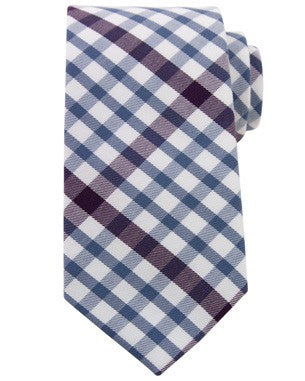 White Light Blue Purple Cotton Tie