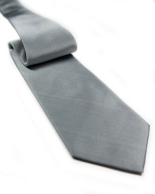 Light Color Solid Tie Light Grey
