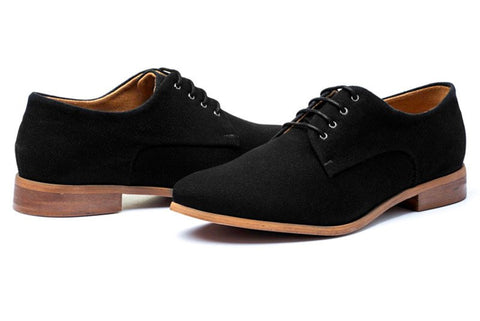Ahimsa Women's Derby Shoe in Black