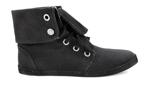 Ahimsa Folder Over Cuff Boots in Black