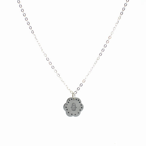 Hamsa Flower Necklace by Christy Robinson Designs - Compassionate Closet