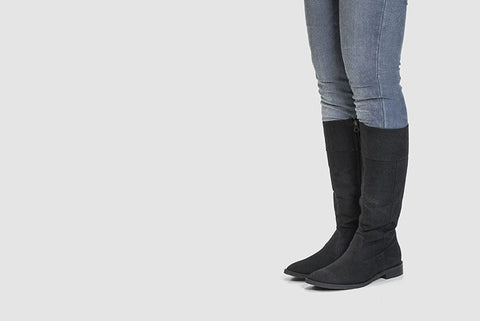 Maria Knee High Boots by Ahimsa - Compassionate Closet