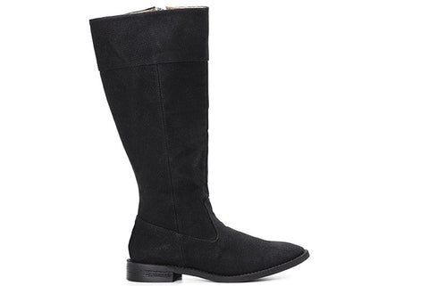 Maria Knee High Boots in Black side view