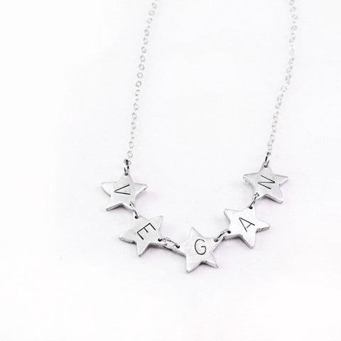 Oh, My Vegan Stars Necklace by Christy Robinson Designs - Compassionate Closet