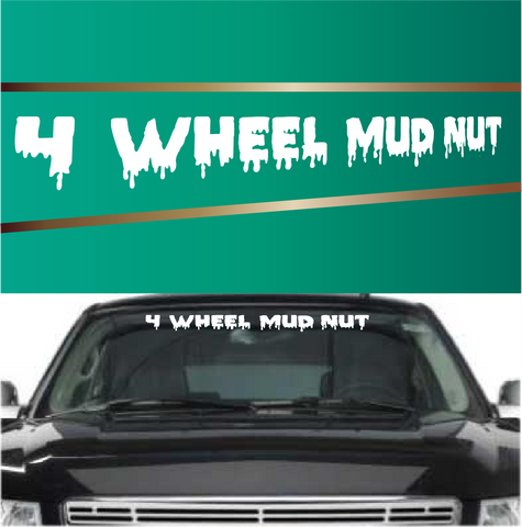 4 wheel mud nut custom window decal custom car decals car stickers