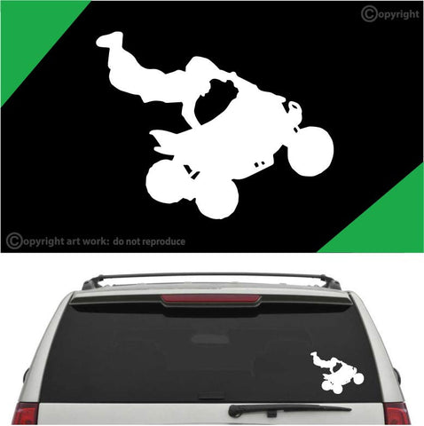 4 Wheeler Rider ATV Auto Decal Car Sticker A1 Custom Car Decals Car Stickers