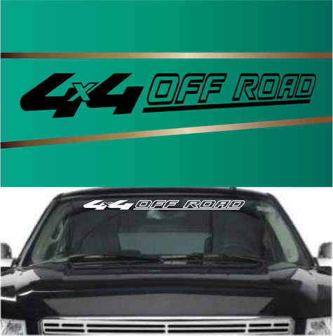 4x4 Off Road Cool Windshield Decal Custom Car Decals Car Stickers