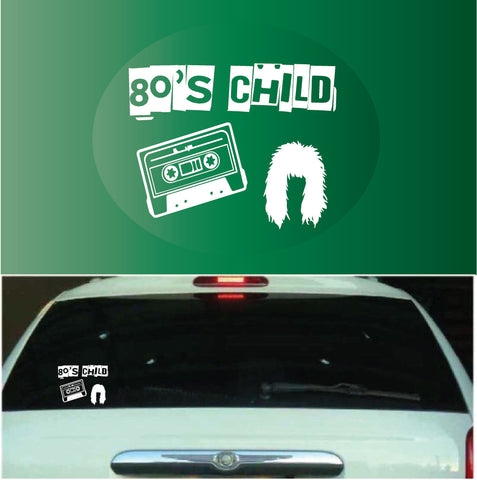 80's Child | Car Decals Custom Car Decals Car Stickers