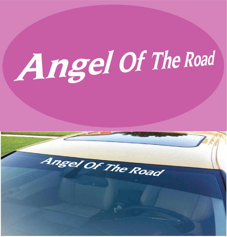 Angel Of The Road Windshield Decal Banner Custom Car Decals Car Stickers