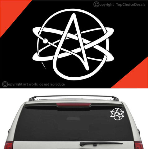 Atheist Symbol Auto Decal Car Sticker Custom Car Decals Car Stickers