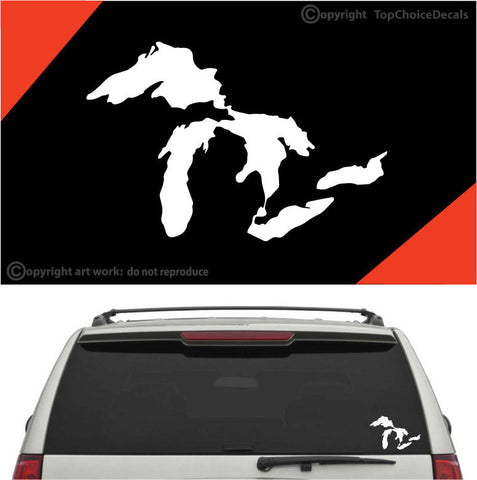 Michigan Great Lakes State Auto Decals Car Stickers Custom Car Decals Car Stickers
