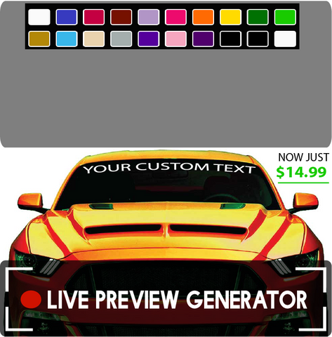 Create Your Own Custom Windshield Decal Banner Maker Easy Custom Car Decals Car Stickers