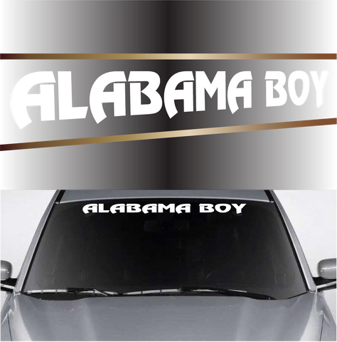 Alabama Boy Custom Windshield Banner Decals Custom Car Decals Car Stickers