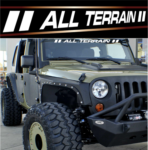 All Terrain Custom Windshield Banners 4x4 Off Road Decal Custom Car Decals Car Stickers