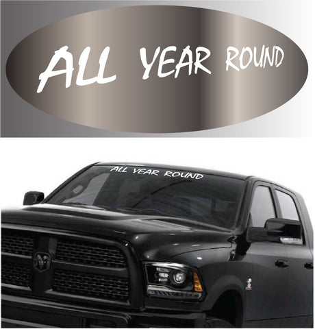 All Year Round Windshield Decal Banner Custom Car Decals Car Stickers