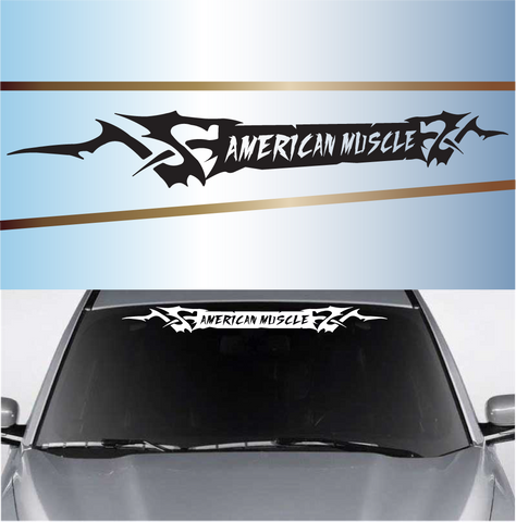 American Muscle Tribal Customized Windshield Decals Custom Car Decals Car Stickers