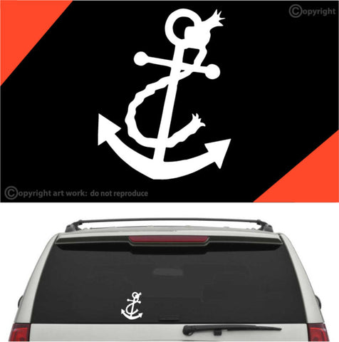Anchor Decal Car Sticker #A1 Custom Car Decals Car Stickers