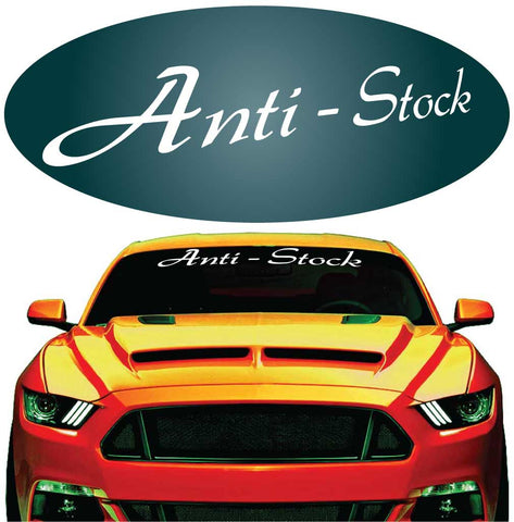 Anti - Stock Decal Windshield Banner Car Auto Truck Window Custom Car Decals Car Stickers