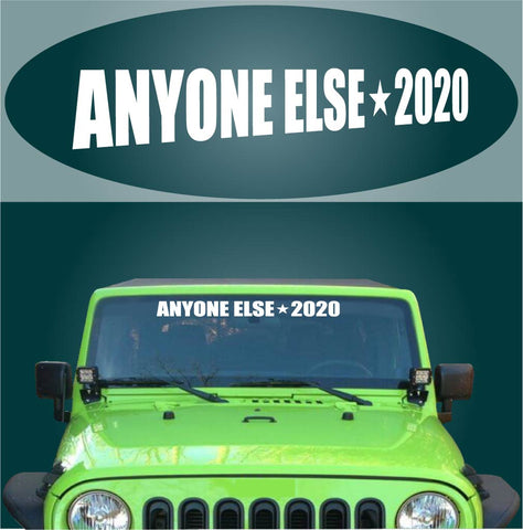 Anti-Trump Decal Sticker Anyone Else 2020 Car Banner Funny Custom Car Decals Car Stickers