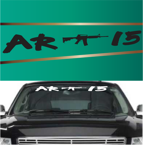 AR15 Windshield Banners Custom Decals For Cars Custom Car Decals Car Stickers
