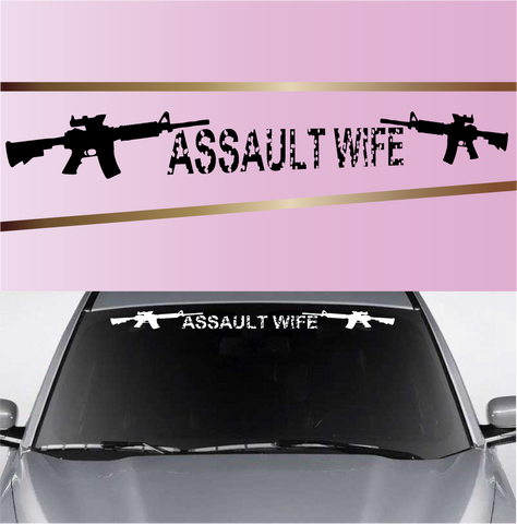 Assault Wife Funny Custom Decals For Cars Custom Car Decals Car Stickers