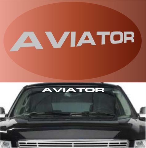 Aviator Windshield Banner Auto Decal Custom Car Decals Car Stickers
