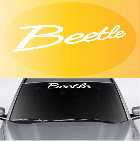 Beetle Window Decal Windshield Banner Custom Car Decals Car Stickers