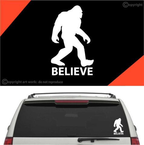 Bigfoot Believe Decal Car Sticker Custom Car Decals Car Stickers