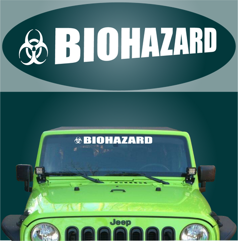 Biohazard Windshield Banner Auto Decal Car Sticker Custom Car Decals Car Stickers