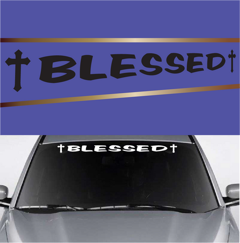 Blessed Customized Windshield Banners Popular Vinyl Decals Custom Car Decals Car Stickers