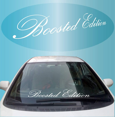 Boosted Edition Decal Windshield Banner Car Truck Window Custom Car Decals Car Stickers