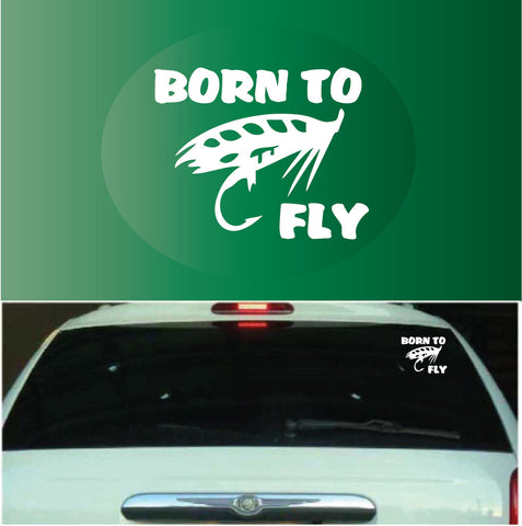Born To Fly Fly Fishing | Car Decals Custom Car Decals Car Stickers
