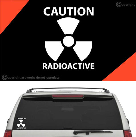 Caution Radioactive Car Sticker Decal Custom Car Decals Car Stickers