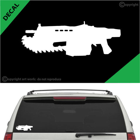 Chainsaw Rip Saw Gun Auto Decal Car Sticker A1 Custom Car Decals Car Stickers