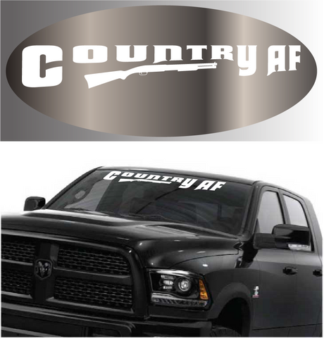 Country AF Windshield Decal Custom Car Decals Car Stickers