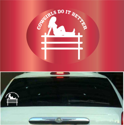 Cowgirls Do It Better | Car Decals Custom Car Decals Car Stickers