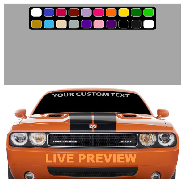 Design Your Own Car >> Create Your Own Custom Windshield Decal Banner Maker Car Truck